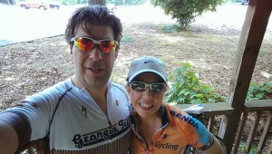 "Chris Annunziata and his wife, Melissa celebrating their 11th anniversary. Below is the ""selfie"" they took after their annual anniversary ride in the Chattahoochee Hill Country (So. Fulton/Coweta)."