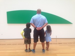 Greg and his kids at the High Museum in Atlanta