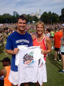 Jake and Jamie at the Peachtree Road Race last summer