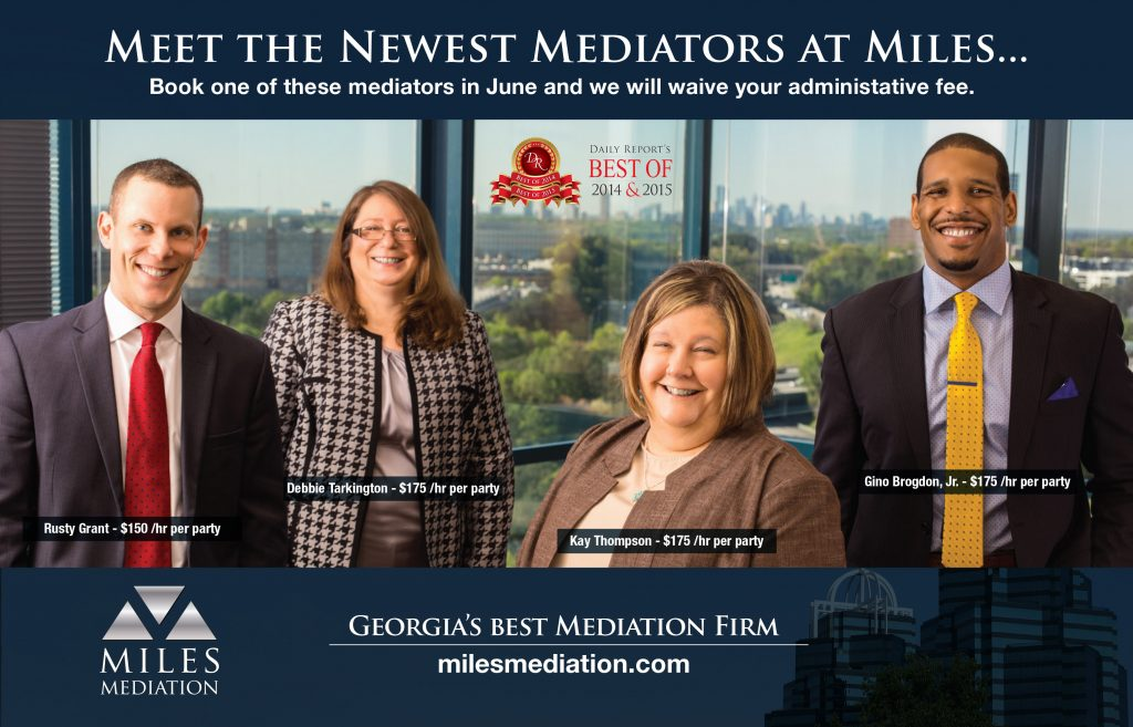 New Mediators at Miles Mediation