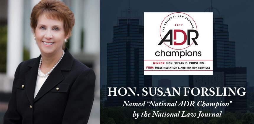 Hon. Susan Forsling name National ADR Champion