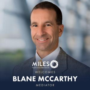 Welcome Blane McCarthy!
